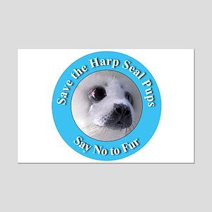Anti-Fur Harp Seal Pup Mini Poster Print