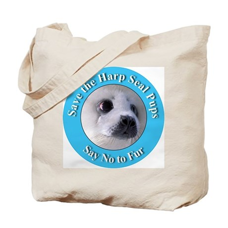 Anti-Fur Harp Seal Pup Tote Bag