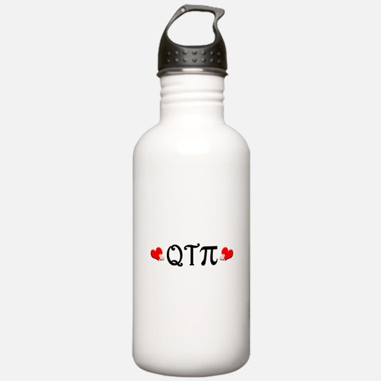 Q-T-Pi (Hearts) Water Bottle