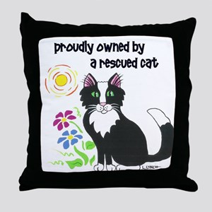 """""""Rescued Cat"""" Throw Pillow"""