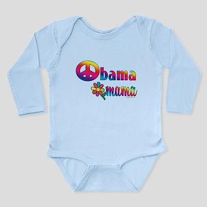 Obama Mamas Peace Sign Long Sleeve Infant Bodysuit