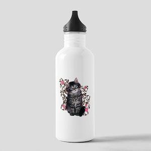 Cute Kitten Kitty Cat Lover Stainless Water Bottle