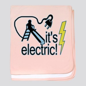 The Electric Slide baby blanket