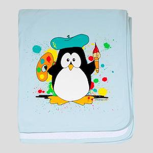 Artistic Penguin baby blanket