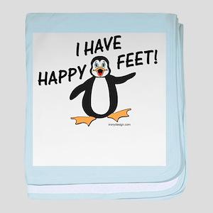 Happy Feet Penguin baby blanket