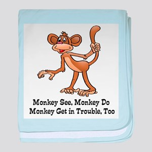 Monkey See... baby blanket