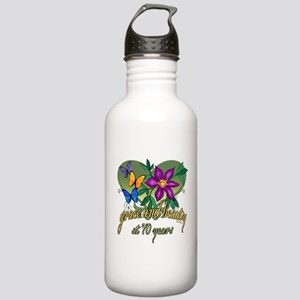Beautiful 70th Stainless Water Bottle 1.0L