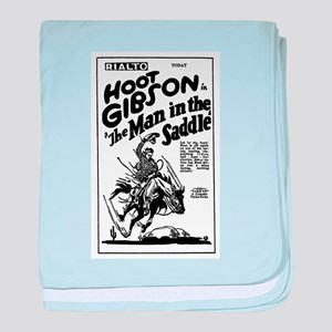 Hoot Gibson Man in Saddle 1926 baby blanket