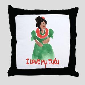Tutu U`i - Pretty Grandma Throw Pillow