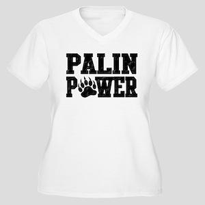 Palin Power Women's Plus Size V-Neck T-Shirt