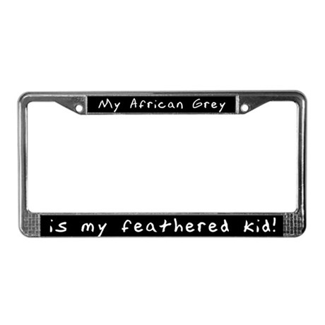 African Grey Feathered Kid License Plate Frame