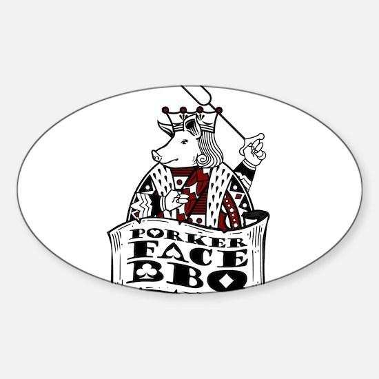 Porker Face Sticker (Oval)