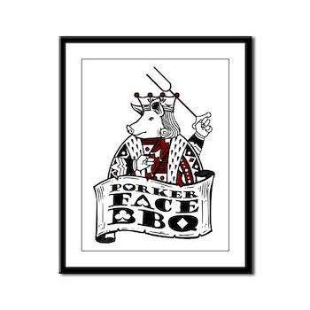 Porker Face Framed Panel Print