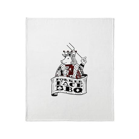 Porker Face Throw Blanket