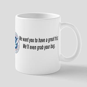 TSA...Grab your bag. Mug