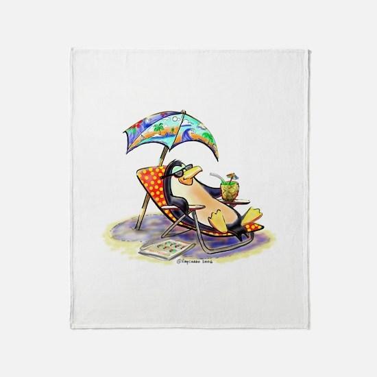 tRoPiCaL pEnGuIn Throw Blanket