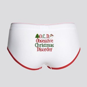 ef0a2a84d51 Funny Christmas Obsessed Women s Underwear   Panties - CafePress
