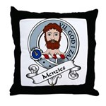 Menzies Clan Badge Throw Pillow