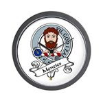Menzies Clan Badge Wall Clock