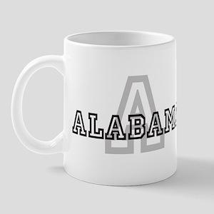 Letter A: Alabama Mug