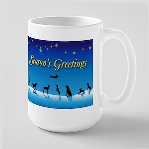 Doggy Season's Greetings Large Mug