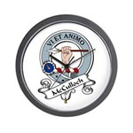 McCulloch Clan Badge Wall Clock