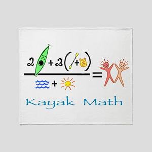 Kayak Math Throw Blanket