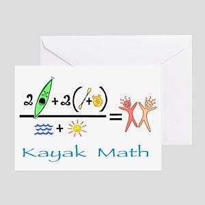 Kayak Math Greeting Card