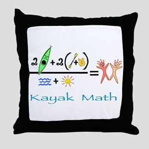 Kayak Math Throw Pillow