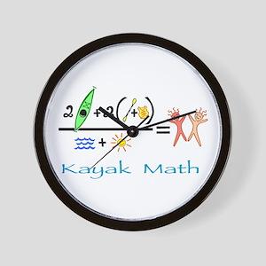 Kayak Math Wall Clock