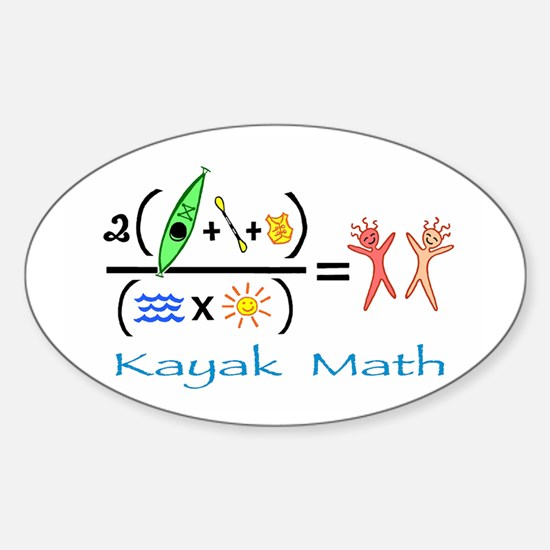 Kayak Math Sticker (Oval)