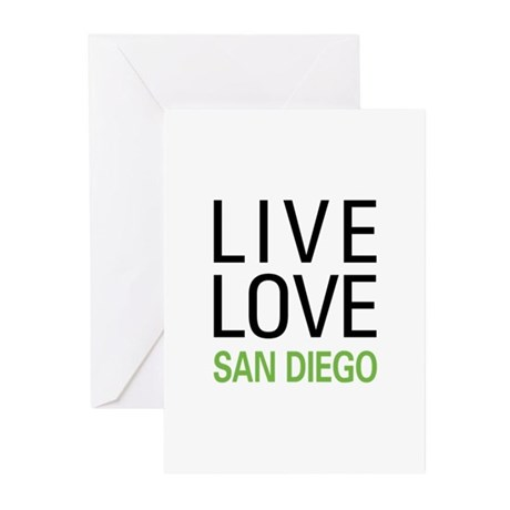 Live Love San Diego Greeting Cards (Pk of 20)