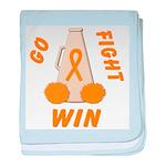 Orange GO..WIN baby blanket