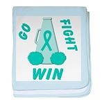 Teal GO FIGHT WIN baby blanket