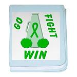 Green WIN Ribbon baby blanket