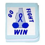 Blue WIN Ribbon baby blanket