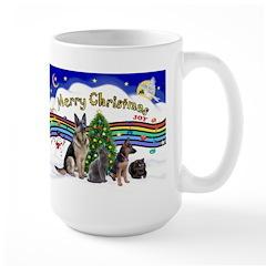 X-Music #1-2G-Sheps,2cats Large Mug