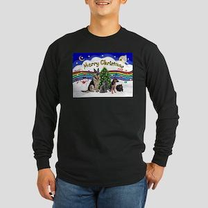 X-Music #1-2G-Sheps,2cats Long Sleeve Dark T-Shirt
