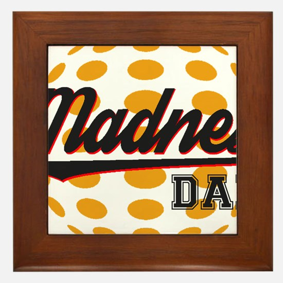 Funny March madness Framed Tile