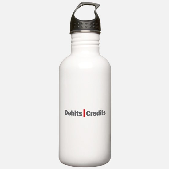 Debits and Credits Water Bottle