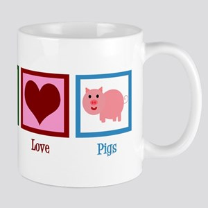 Peace Love Pigs Mug