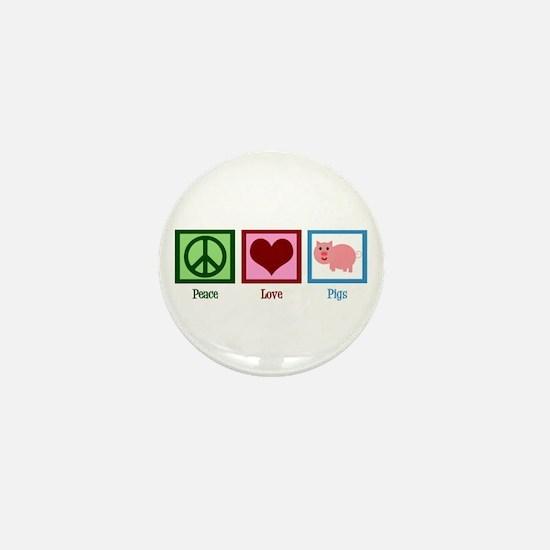 Peace Love Pigs Mini Button