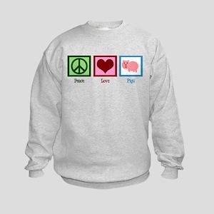 Peace Love Pigs Kids Sweatshirt