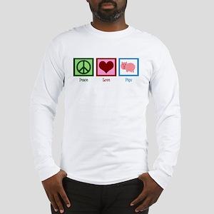 Peace Love Pigs Long Sleeve T-Shirt