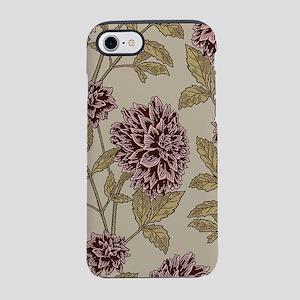 Vintage Dahlia Pattern iPhone 7 Tough Case