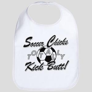 Soccer Chicks Kick Butt! Bib