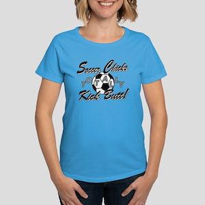 Soccer Chicks Kick Butt! Women's Dark T-Shirt