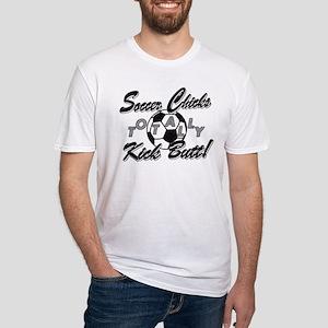 Soccer Chicks Kick Butt! Fitted T-Shirt