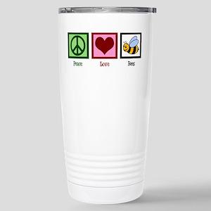 Peace Love Bees Stainless Steel Travel Mug