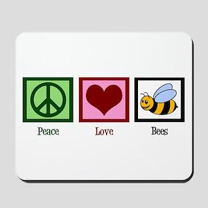 Peace Love Bees Mousepad
